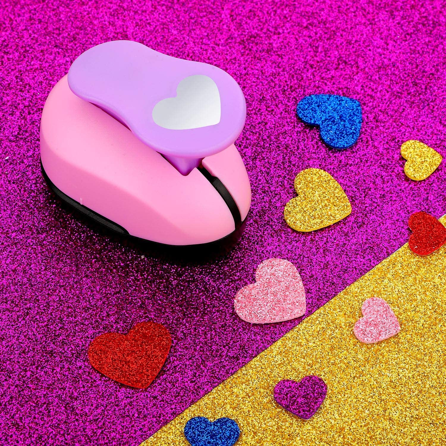 2 Pieces Heart Shape Crafts Hole Punches Printing Paper Punches for Crafting Scrapbooking Cards Arts 15 mm and 25 mm