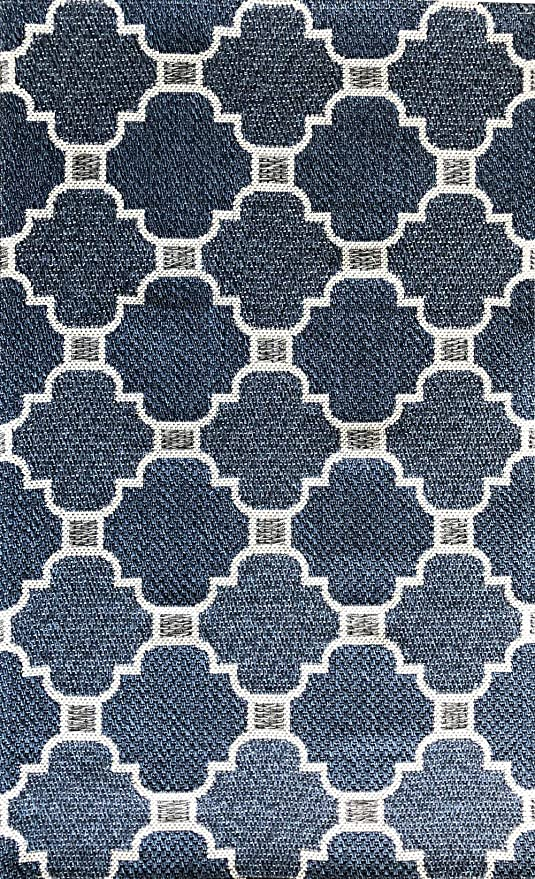 Alfombra Home Cotton onda de 100% algodón, algodón, azul-plateado ...