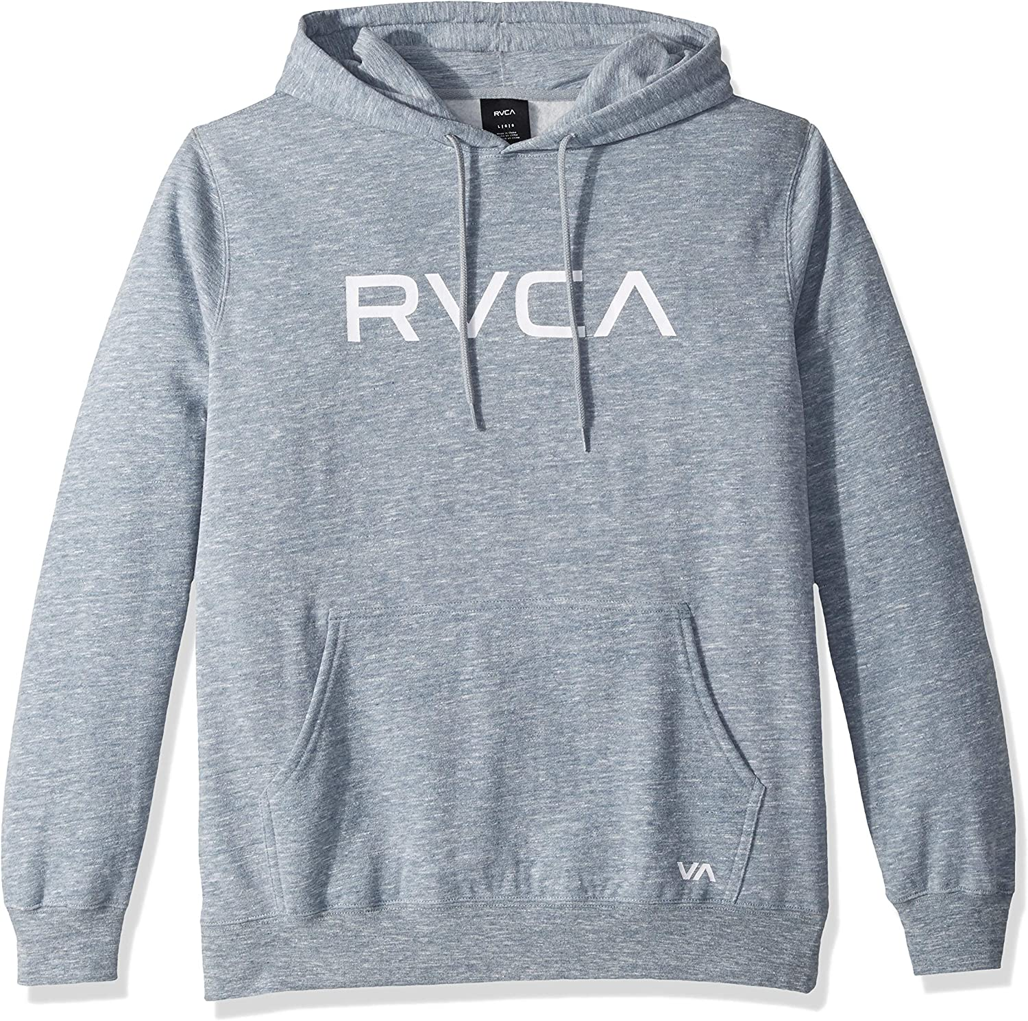 RVCA Men's Big Hoodie Grey Small: Clothing