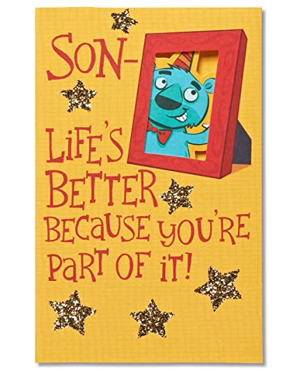 American Greetings Lifes Better Birthday Card For Son With Glitter