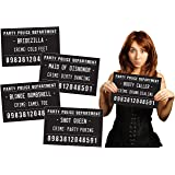 Funny Mugshot Sign Photobooth Selfie Props for Birthday Parties, Bachelorette Games, Event Decoration Idea (Bachelorette & Girls Night Out)