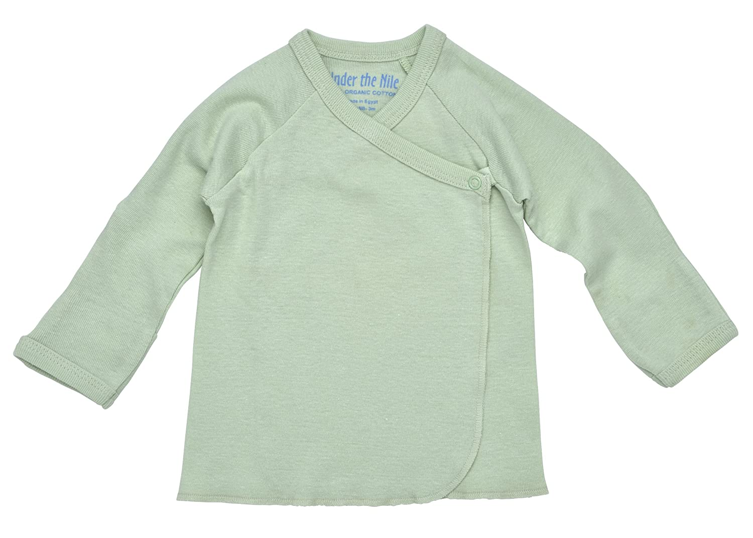 Under the Nile Organic Cotton Side Snap Baby Tee 3-6M, Pink