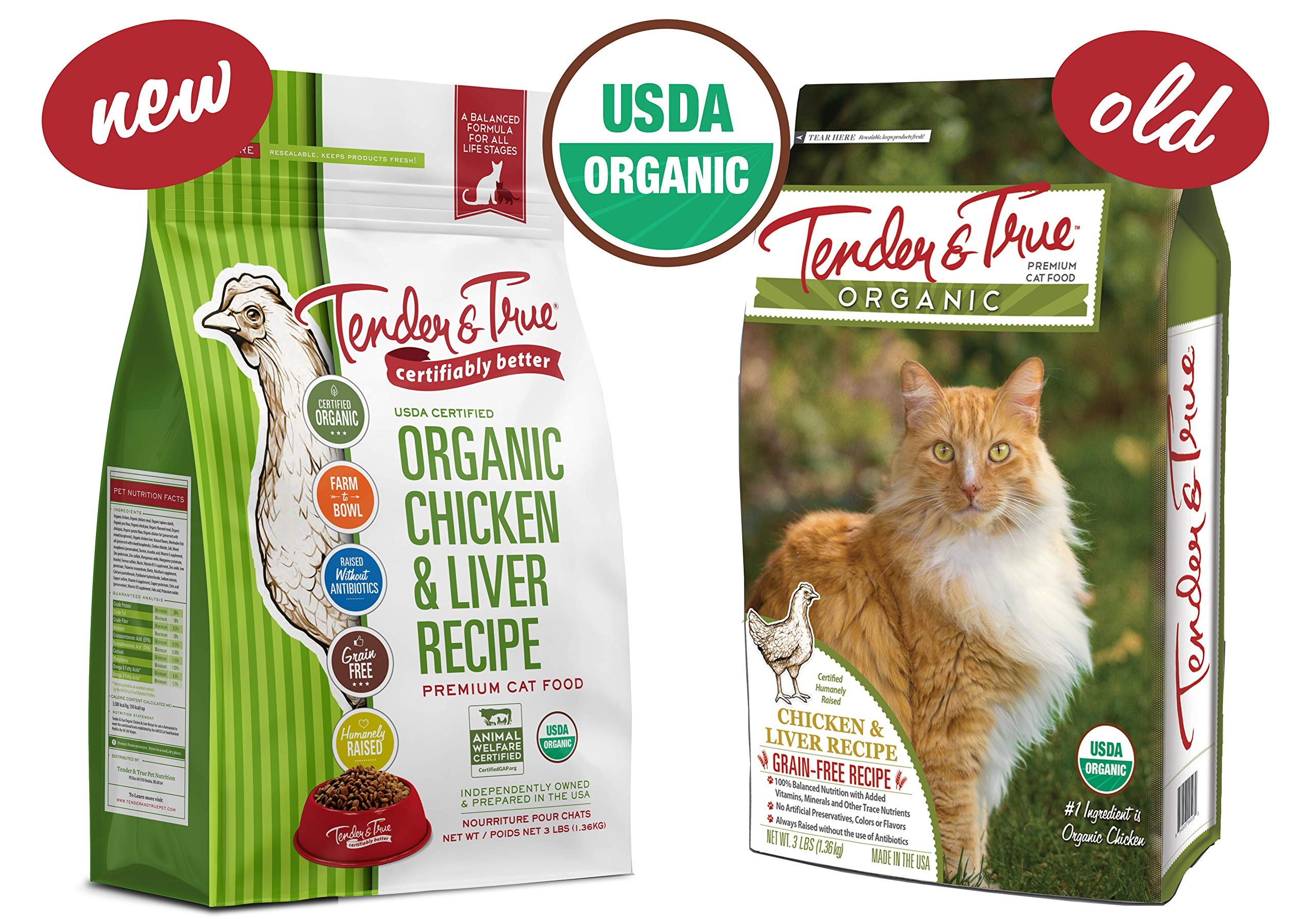Tender & True Organic Chicken & Liver Recipe Cat Food, 3 lb by Tender & True Pet Nutrition