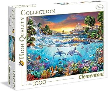 Clementoni - Puzzle de 1000 Piezas, diseño Bajo el mar (39335.0 ...