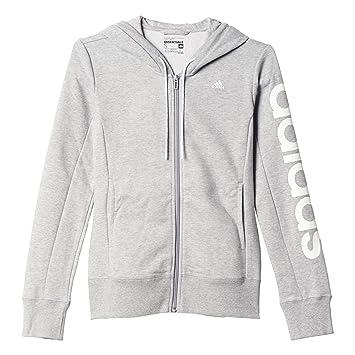24ad0048125d Adidas AJ4578 Sweat-Shirt à Capuche Femme Gris Blanc FR   XXS (Taille