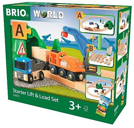 Brio Starter Liftload Set Wooden Toy Train Multi