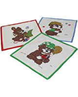 Betz Lot de 12 mouchoirs pour enfant à motif d'animal 26 x 26 cm en 100% coton, Dessin 8