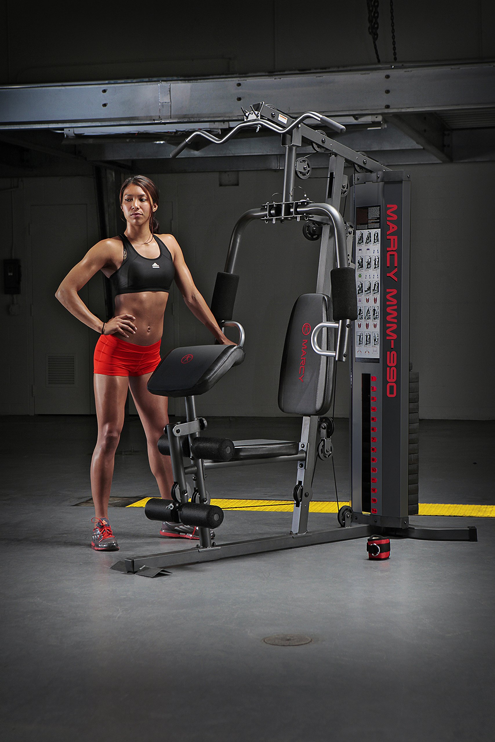 Marcy 150-lb Multifunctional Home Gym Station for Total Body Training MWM-990 by Marcy (Image #6)
