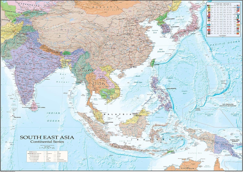 Cartina Mondo Orientale.Cartina Fisica Asiatica