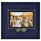 MCS MBI 860157 Mr. & Mrs. Wedding Photo Album, 8.5 x 8.5, Navy (Color: Navy, Tamaño: 8.5 x 8.5