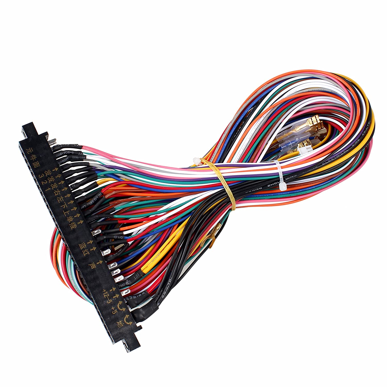 EG STARTS Arcade Jamma 56 Pin Interface Cabinet Wire Wiring Harness on