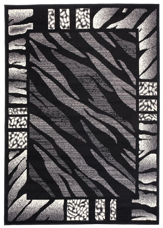 Carpeto Carpeto Carpeto Tierfell Teppich Schwarz 150 x 300 cm Afrika Muster Kurzflor Monaco Kollektion ec409c