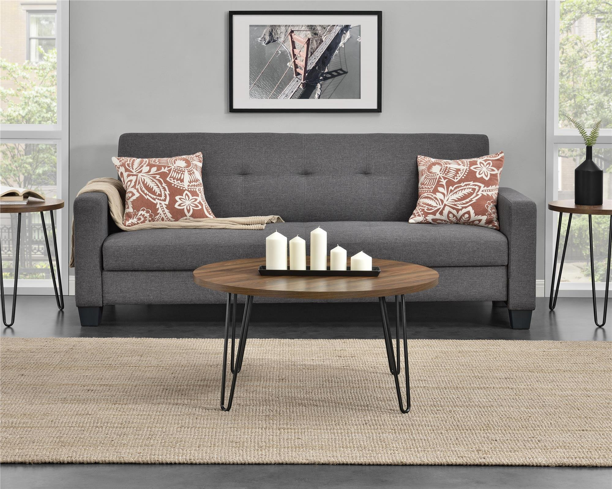 Ameriwood Home 3615222COM Owen Retro Coffee Table, Walnut by Ameriwood Home (Image #2)