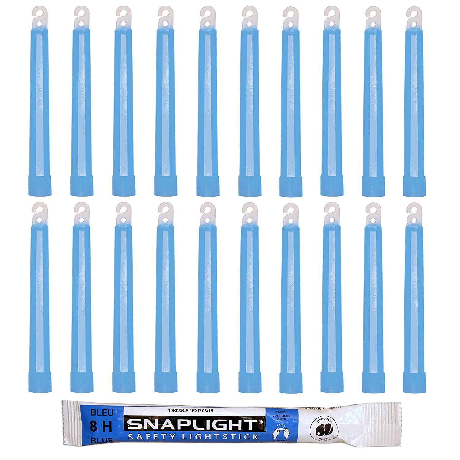 Cyalume SnapLight Blue Glow Sticks – 6 Inch Industrial Grade, Ultra Bright Light Sticks with 8 Hour Duration (Pack of 10) Cyalume Technologies SA8-108080AM