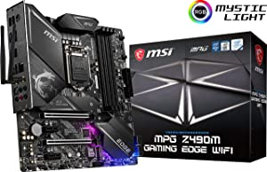 MSI MPG Z490M Gaming Edge WiFi Gaming Motherboard (LGA 1200, Intel 10th Gen, M.2, USB 3.2 Gen 2, DDR4, Wi-Fi 6, SLI, CFX, Gigabit LAN, HDMI, DisplayPort, Micro-ATX)
