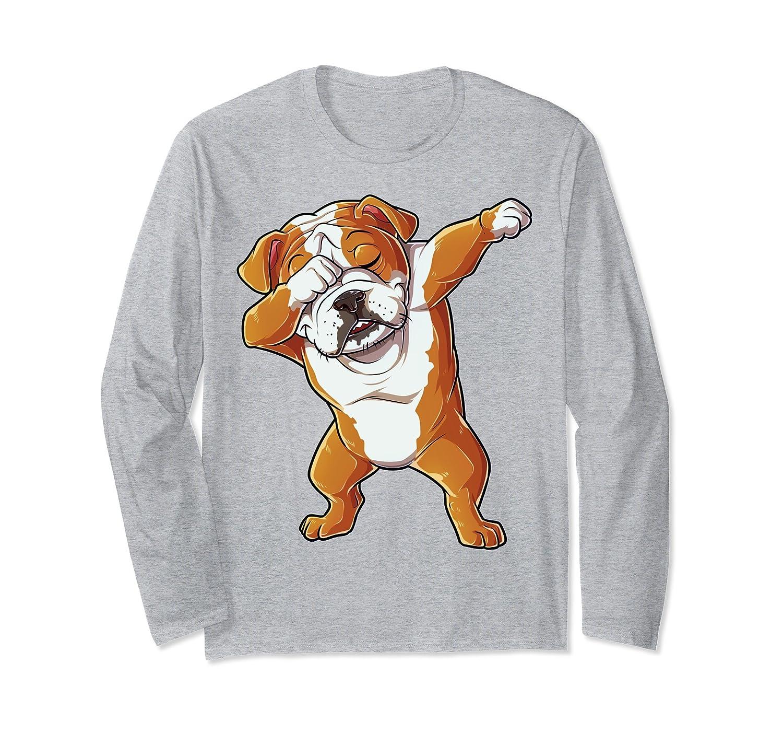 9627e590 Dabbing English Bulldog T shirt Men Dab Dance Puppy Lover-mt ...