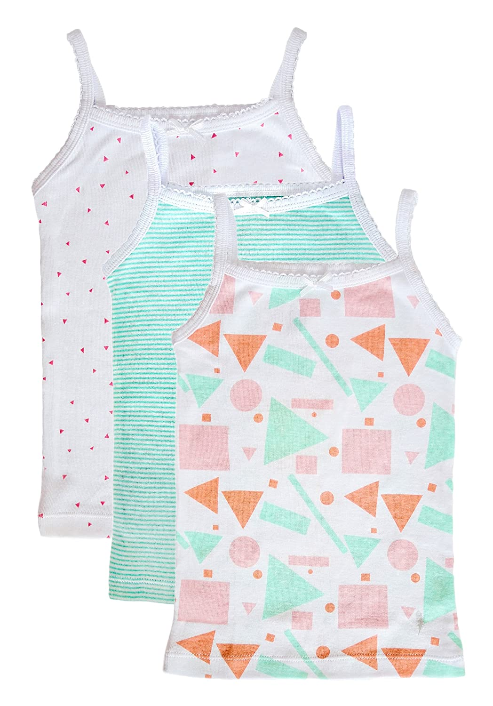 3//Pack Feathers Girls Mod Print Set Tagless Cami Super Soft Undershirts