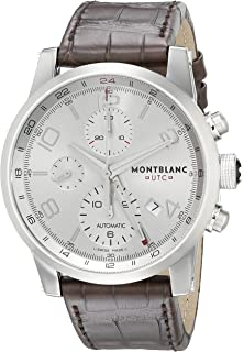 Montblanc Timewalker ChronoVoyager UTC Mens Brown Leather Strap Swiss Automatic Watch 107065