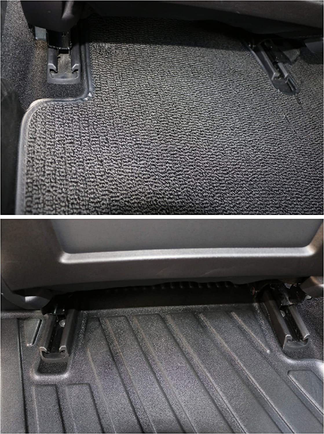 EXCEL LIFE All Weather Full Set of TPE Floor Mats with Detachable Stain-Resistant Carpet for Tesla Model 3 Flexible /& Eco-Friendly Waterproof Suitable for Urban//Off-Road Driving
