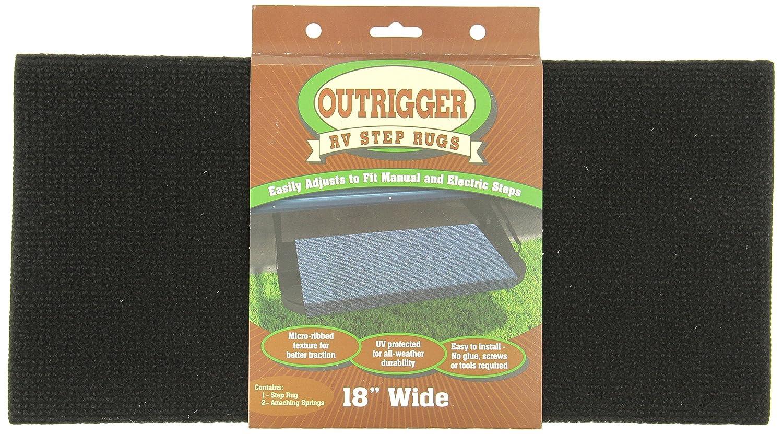 Prest-O-Fit 2-0314 Outrigger Black 18 X 17 RV Step Rug