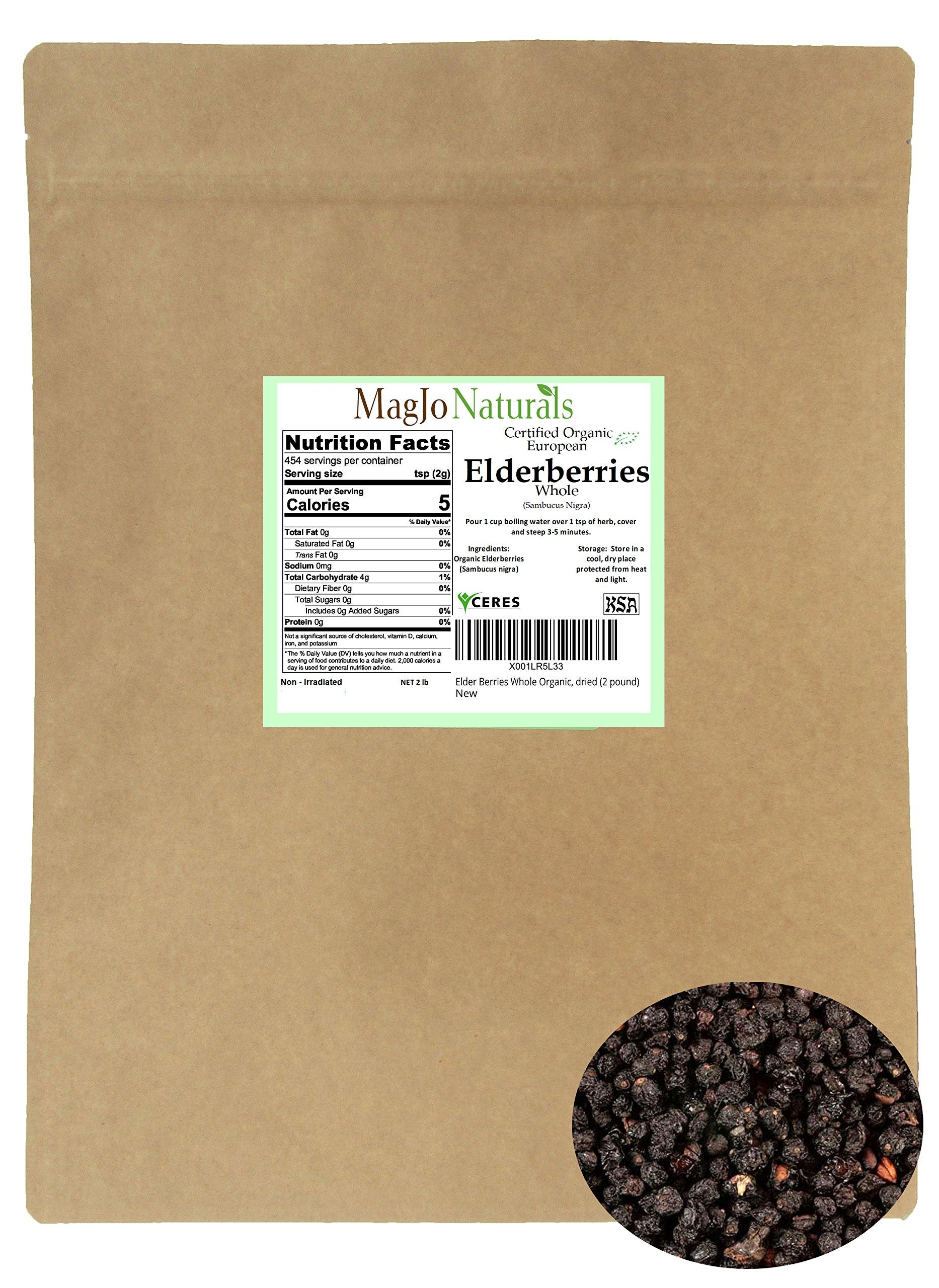 Elder Berries Whole Organic, dried (2 pound)