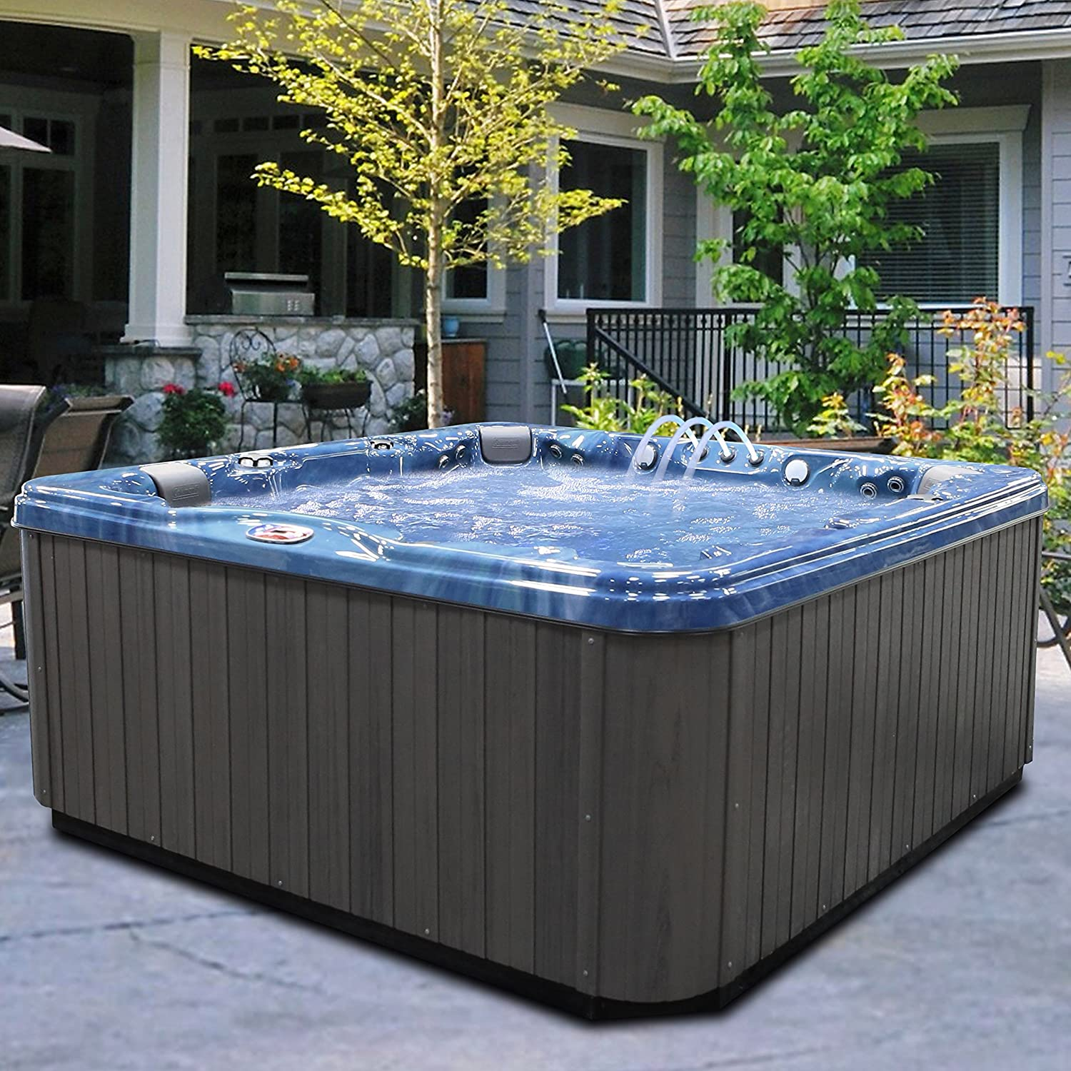 Amazon.com : American Spas AM-756LP 6-Person 56-Jet Lounger Spa with ...