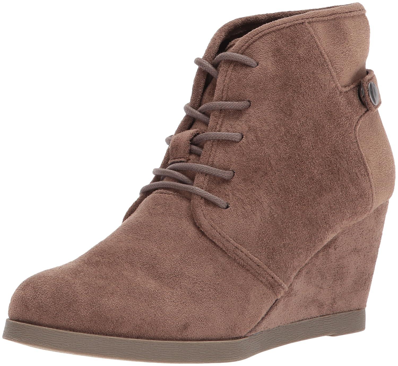 Madden Girl Women's Dusky Ankle Bootie B07196DV31 6.5 B(M) US Dark Taupe