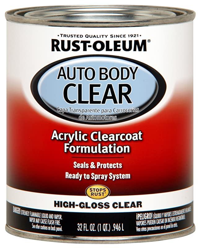 Rust-Oleum 262178 Gloss Clear Automotive Auto Body Clear Coat - 32 oz.
