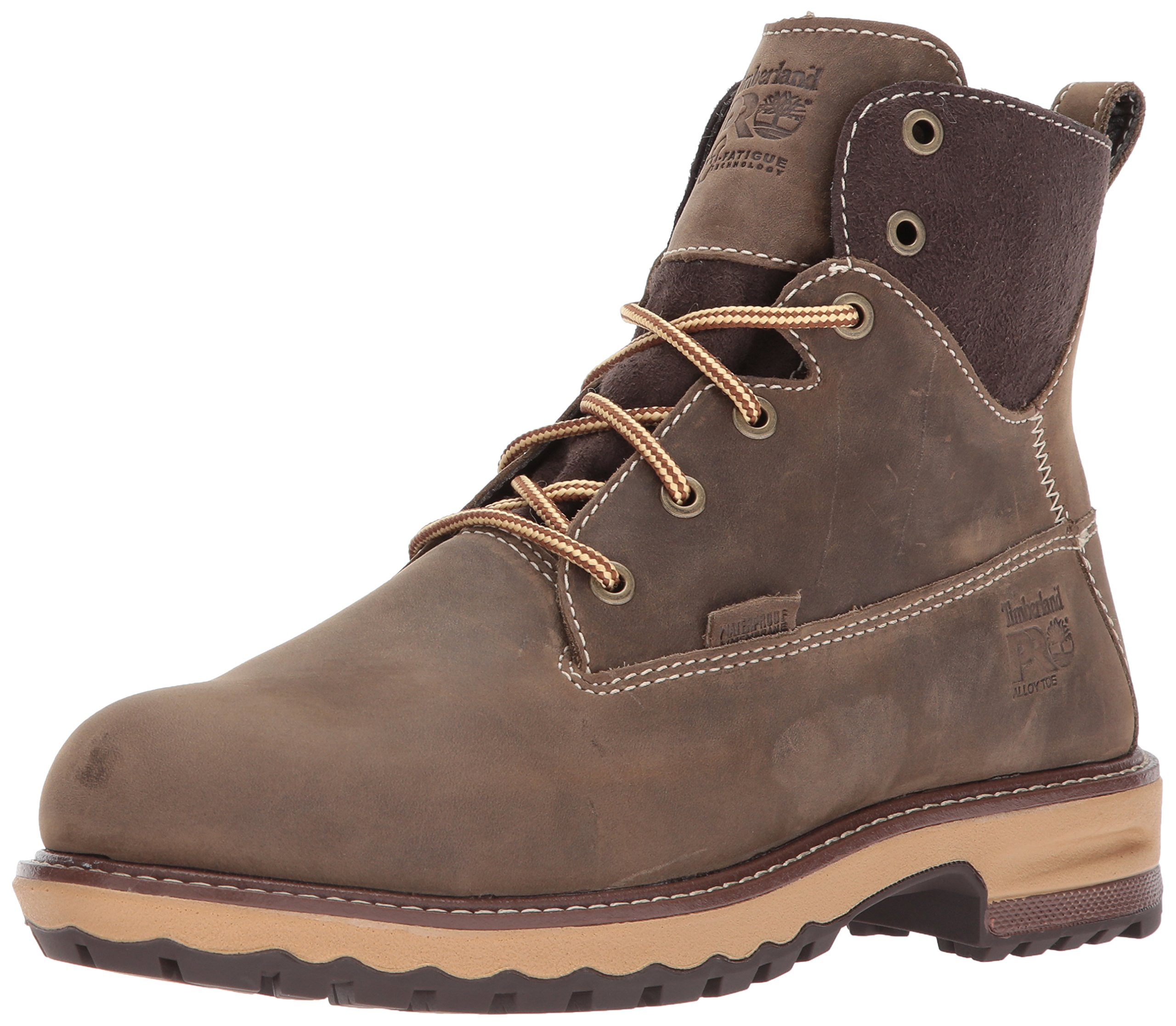 Timberland PRO Women's Hightower 6'' Alloy Toe Waterproof Industrial and Construction Shoe, Turkish Coffee, 8 M US