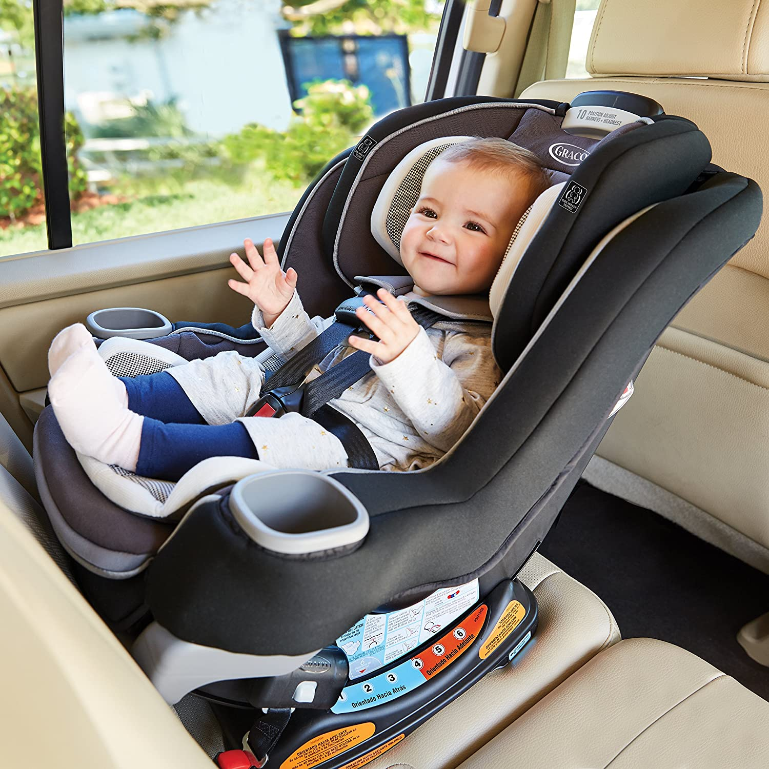 Graco Extend2Fit 3 In 1 Car Seat Featuring TrueShield Side Impact Protection