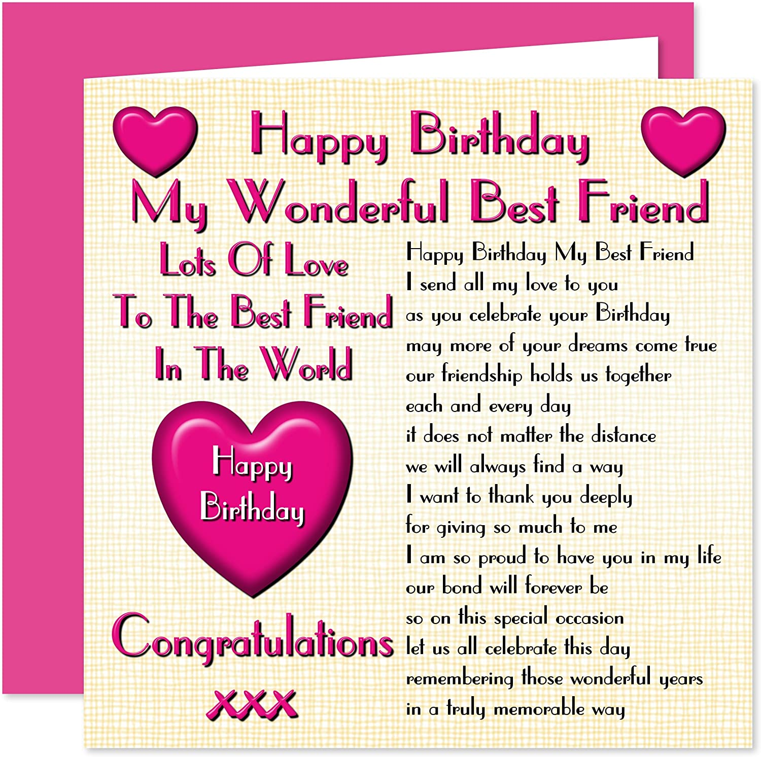 Super Best Friend Happy Birthday Card Lots Of Love To The Best Friend Personalised Birthday Cards Veneteletsinfo