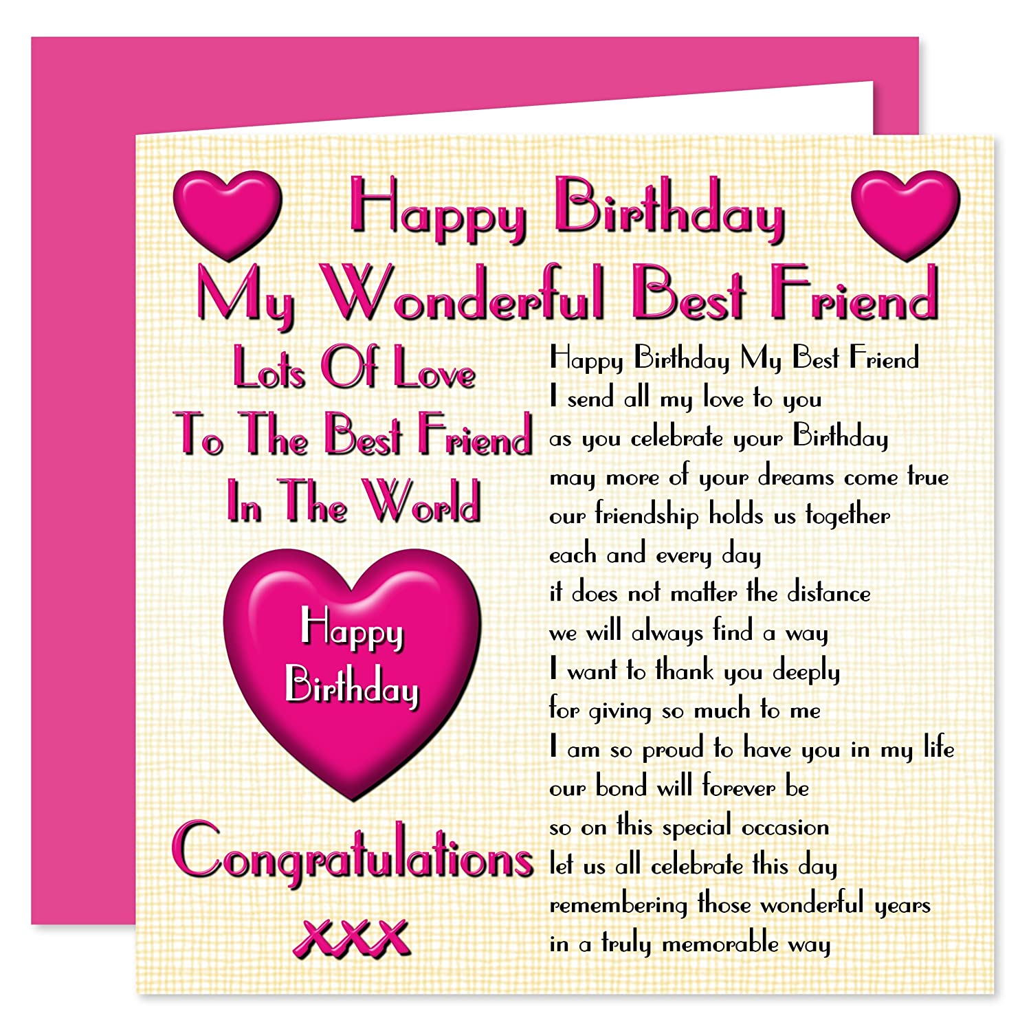 Happy Birthday My Friend.Best Friend Happy Birthday Card Lots Of Love To The Best Friend In The World
