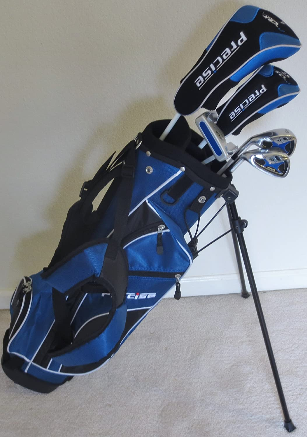 Left Handed Junior Golf Club Set with Stand Bag for Kids Ages 8-12 Jr. Boys Premium Professional Quality Equipment