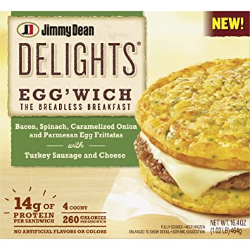 Jimmy Dean Delights Bacon Spinach Onion Eggwich 4 Count Amazon