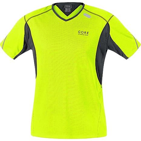eafa80dd57f3e Amazon.com  Gore Running Wear Essential Shirt - Men s Neon Yellow ...