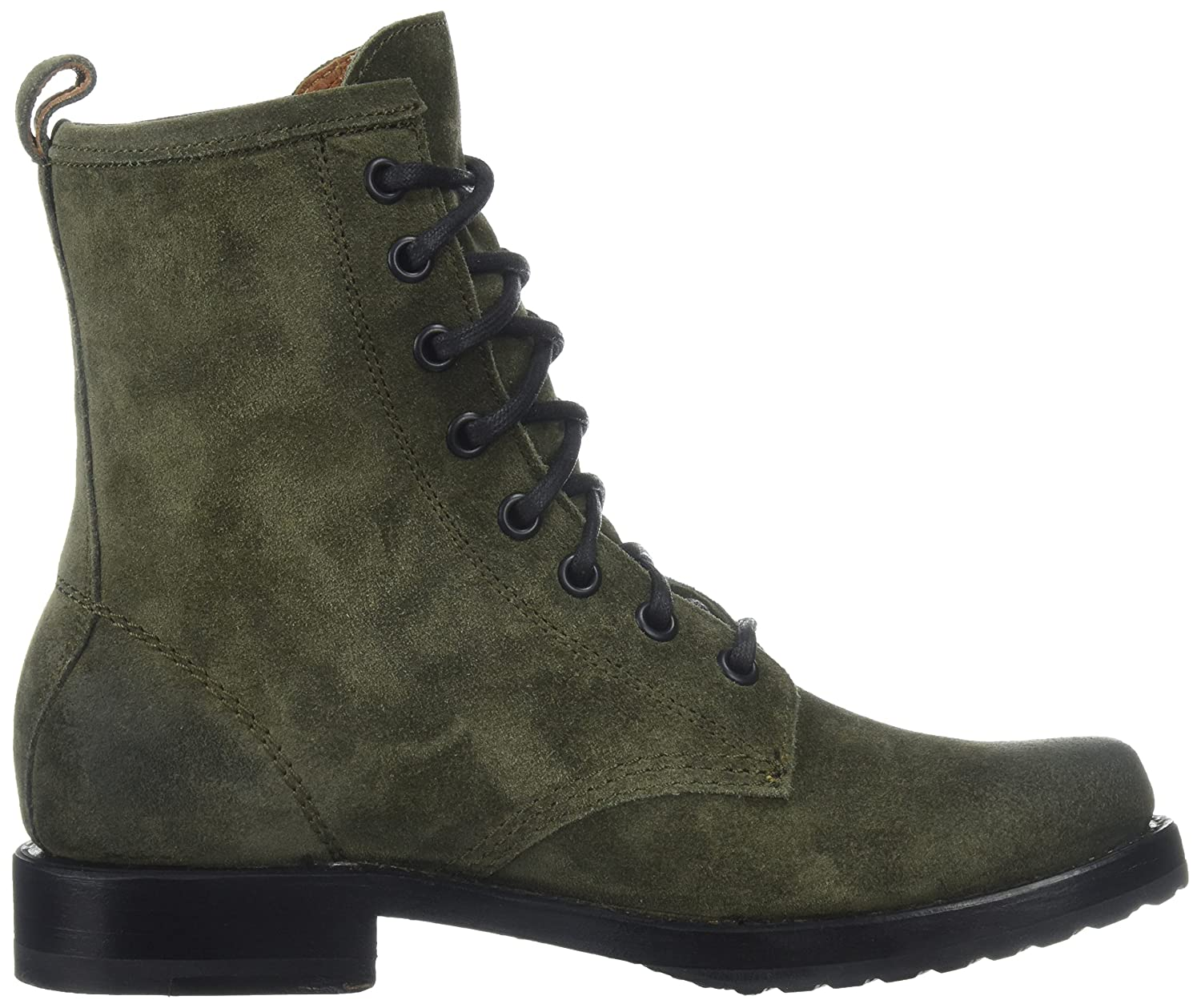 FRYE Women's Veronica Combat Boot B01NCRSEH8 10 B(M) US|Forest Soft Oiled Suede
