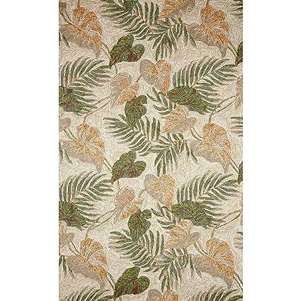 Amazon Com Liora Manne Ravella Tropical Leaf Indoor Outdoor Rug