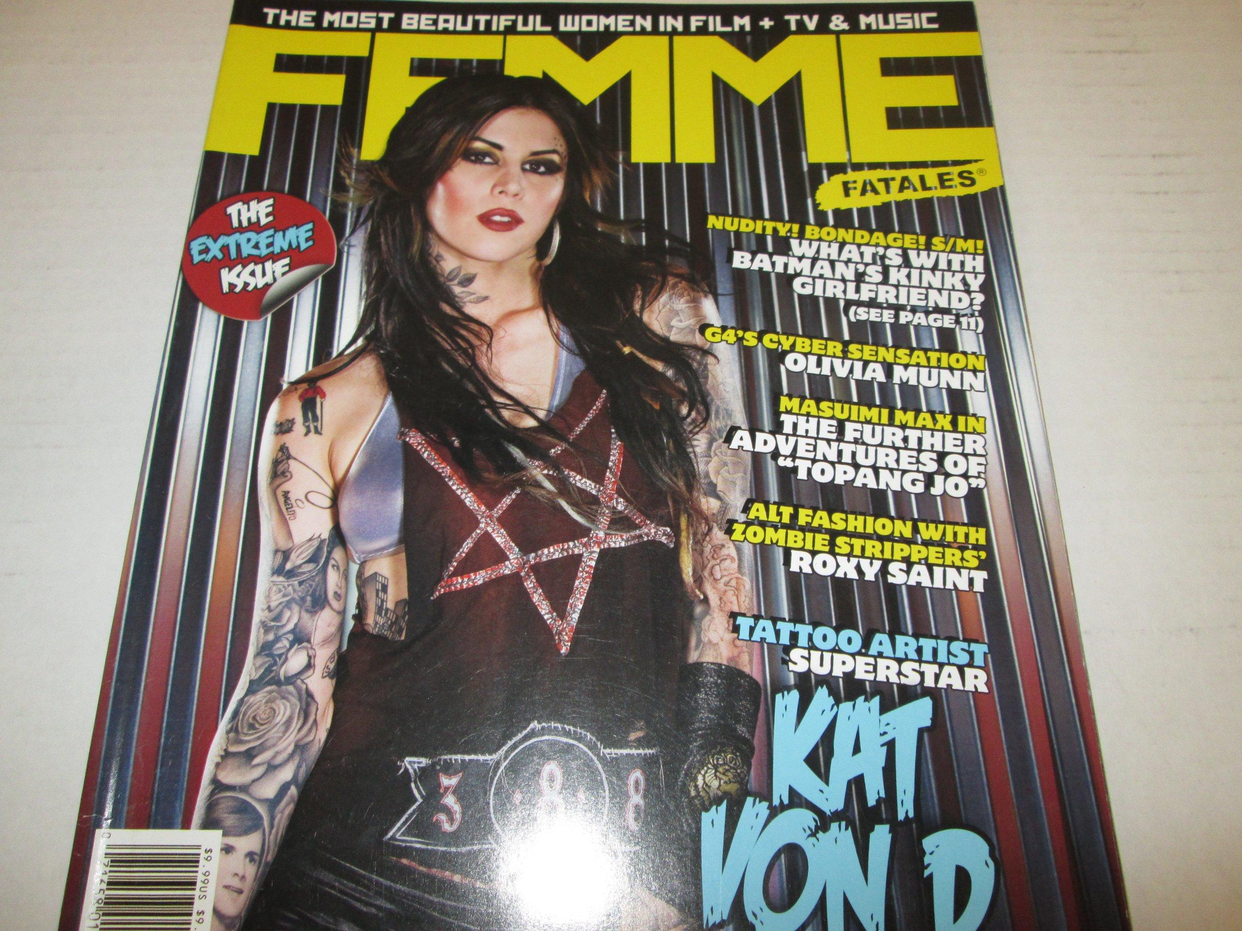 "Download Femme Fatales Men's Magazine ""Kat Von D"" ""Olivia Munn"" July 2008 pdf"