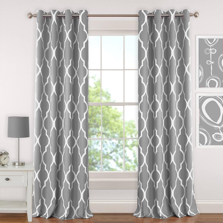 Elrene Home Fashions 026865901306 Juvenile Teen or Tween Blackout Room Darkening Grommet Window Curtain Drape Panel, 52 x 63, Aqua 52 x 63