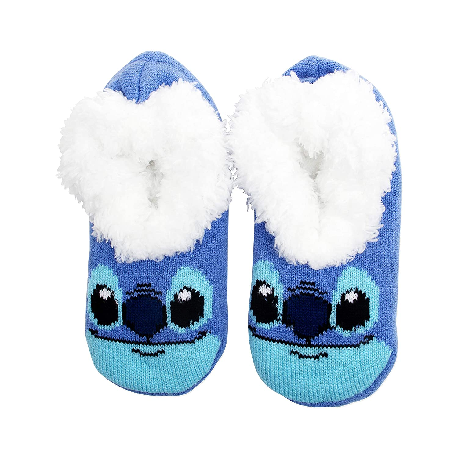 Lilo and Stitch Plush Slipper Socks with Non Slip Grips One Size Fits Most