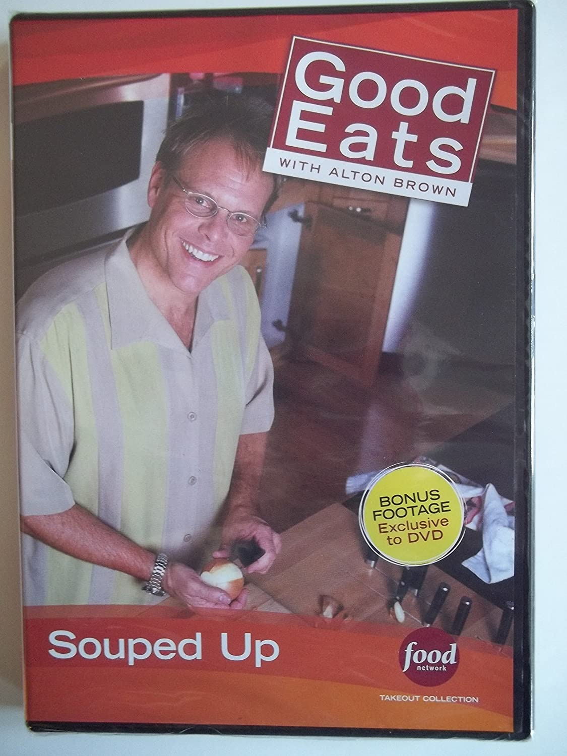 Food Network Takeout Collection DVD - Good Eats With Alton Brown - Souped Up - Includes BONUS FOOTAGE Plus Pressure Cooker Broth / True Brew 4 Take Stock / Soup's On