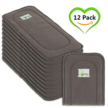 Naturally Natures Soft Baby 5 Layer Charcoal Bamboo Inserts Reusable