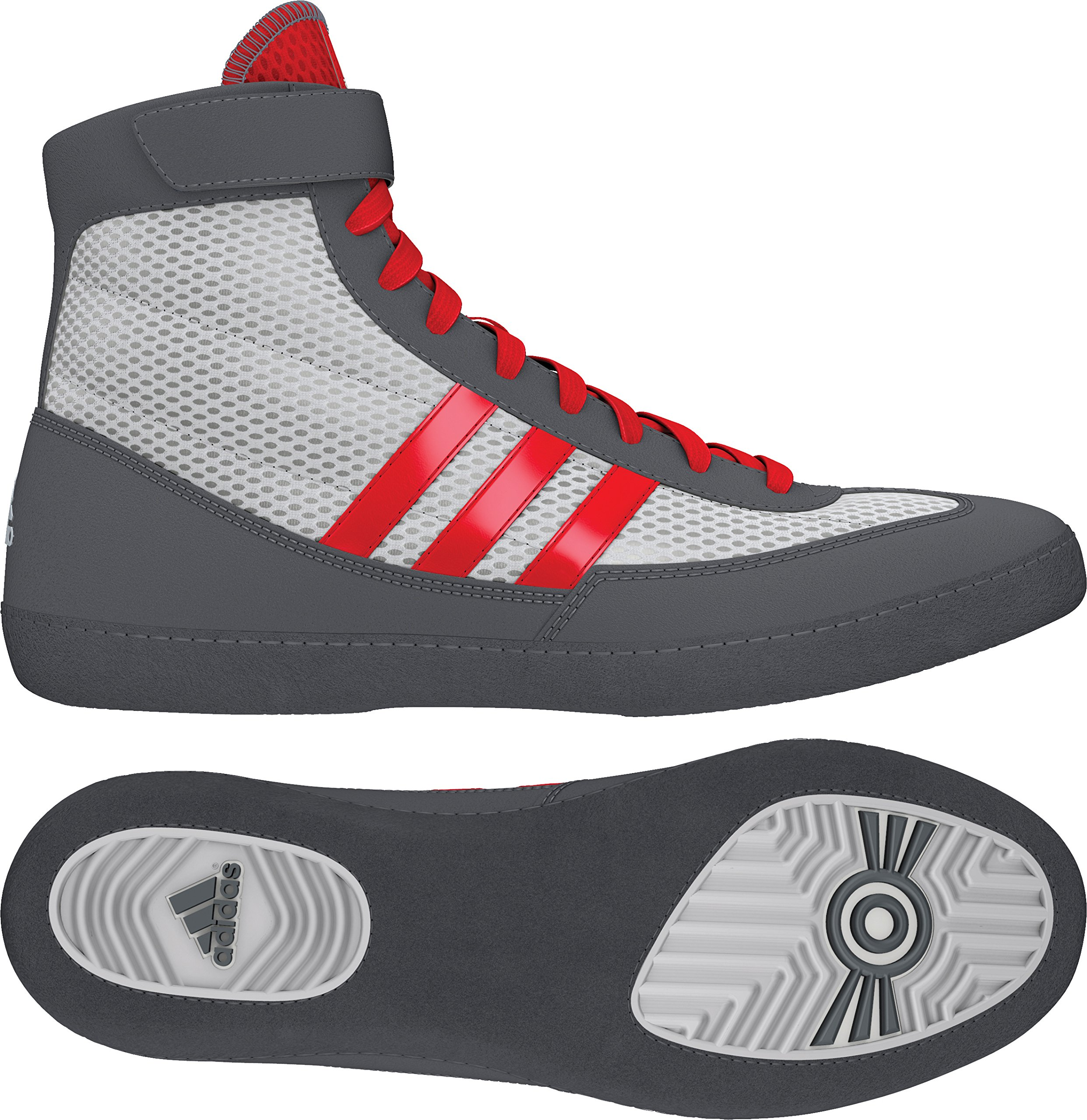 9e7f69a882a Galleon - Adidas Combat Speed 4 Youth Wrestling Shoes - White Red Grey - 3