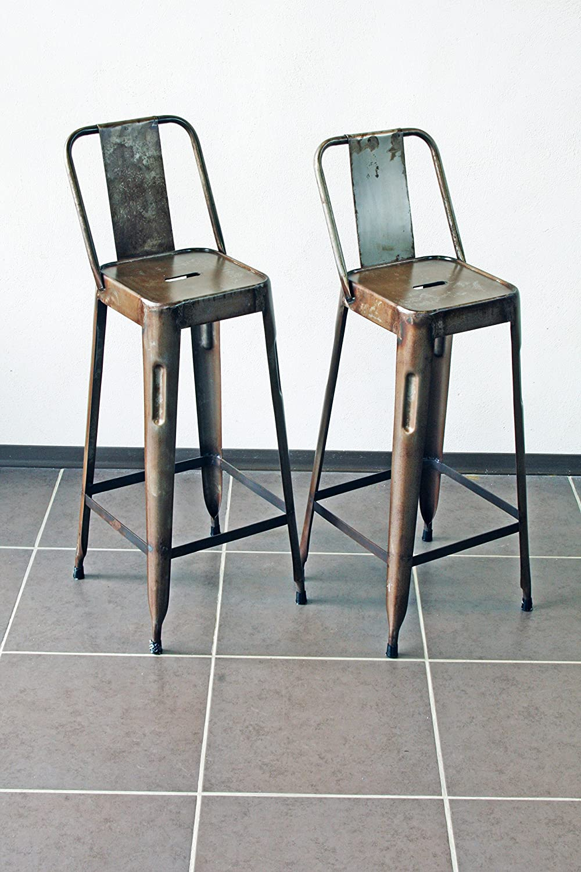 Chaise de bar industriel tabouret bar industriel de for Tabouret industriel ikea