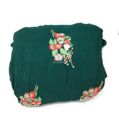 38991194f6 Inhika Women's Chiffon Embroidered, Sequins Unstitched Blouse Piece (1.25  Meter, Sequins Pink Red Green Gold pearl): Amazon.in: Clothing & Accessories