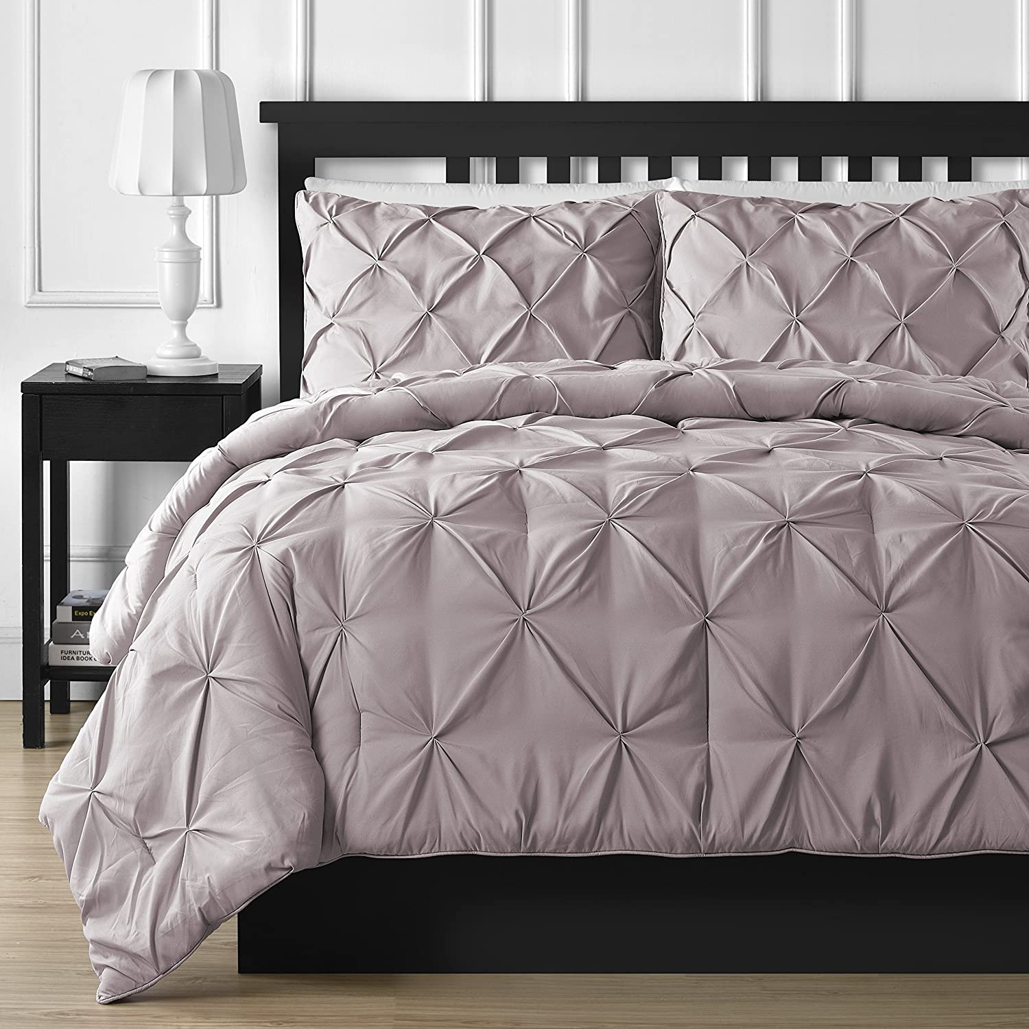 Comfy Bedding 3-piece Pinch Pleat Comforter Set