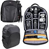 DURAGADGET 14 inch Padded Camera Rucksack Backpack Bag for Canon EOS and PowerShot Range - Now with Rain Cover!
