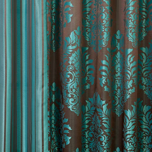 Best Home Fashion Wide Width Damask Jacquard Curtain - Antique ...