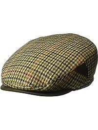 Henschel Mens 100% Italian Wool Herrringbone Plaid Ivy Hat Newsboy Cap