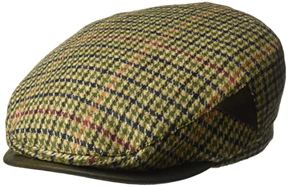 0ae0a71811a3a Henschel Men s 100% Italian Wool Herrringbone Plaid Ivy Hat at Amazon Men s  Clothing store
